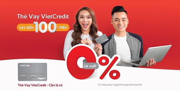 ưu điểm của thẻ vay Hạn mức thẻ vay Vietcredit