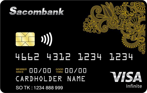 Thẻ đen ngân hàng Sacombank