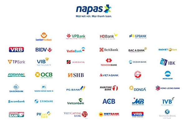 ngân hàng liên kết với Napas