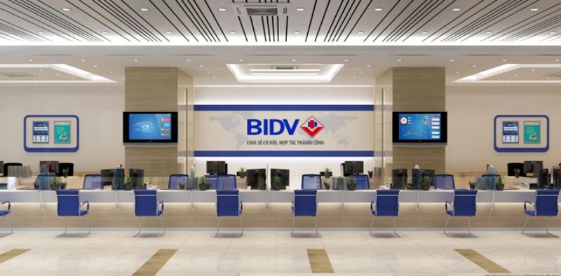 giờ làm việc BIDV