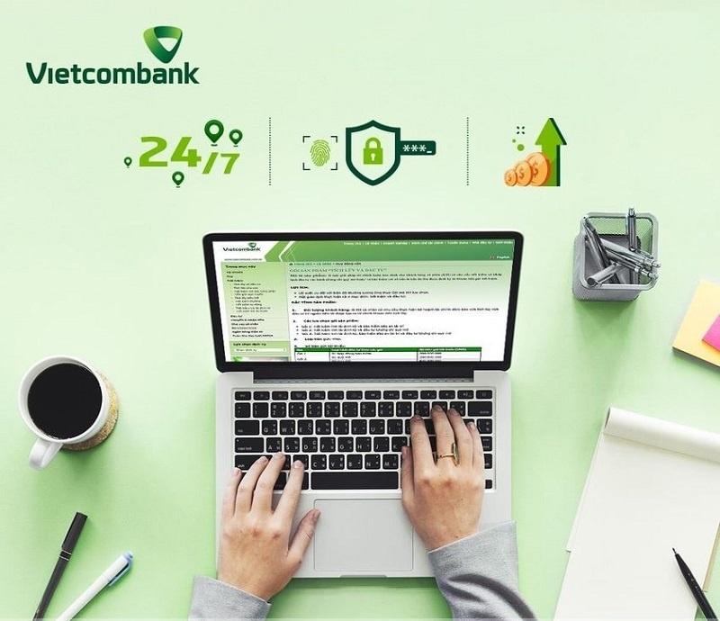 Lãi suất tiền gửi trực tuyến tại Vietcombank